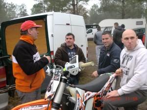 Patrice Encinas, David Rogée-Fromy, Julien Rebes, Fabrice Bonnet (de g. à d.) ont représenté le MC des Esteys dans le Championnat.