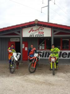 Sur la photo, de gauche à droite, Adrien, Romain et Axel.